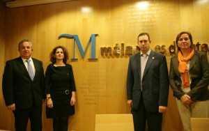 El Presidente de la Diputación de Málaga, la Delegada de la Junta, la Vicepresidenta de la Diputación y el Alcalde de Jun en la presentación del portal