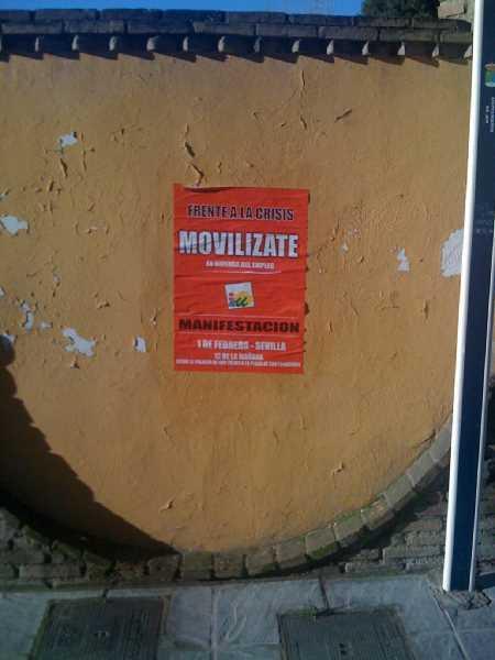 """Ejemplo de cartel """"sin impacto medioambiental"""" de IU"""