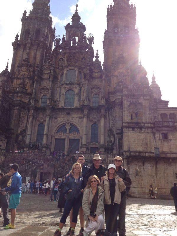 Llegamos a Santiago.