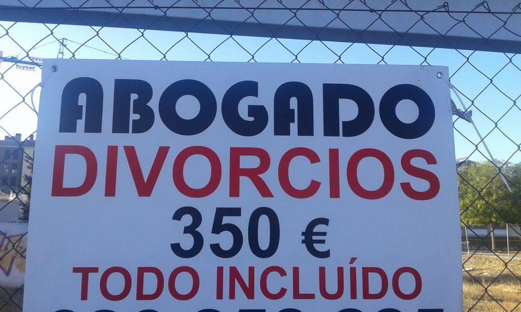 cartel divorcio
