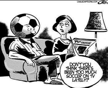 ¿No piensas que últimamente hay mucho fúltbol en la tele, darling?