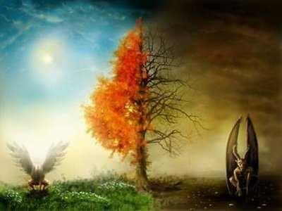La luz y la oscuridad, en los universos paralelos