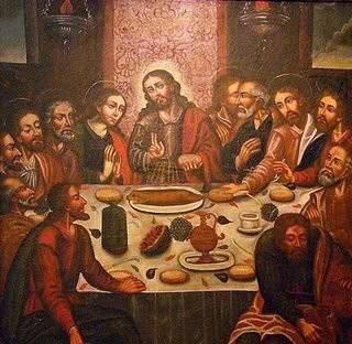 Ilustres degustadores del cuy en una famosa cena...