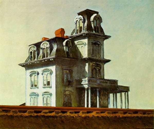 Casa junto a la vía del tren. 1925.