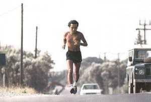 Murakami corriendo camino de Maratón