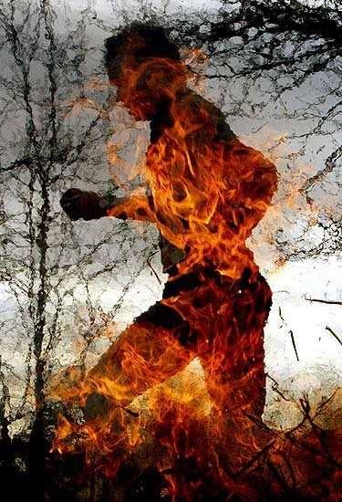 Fracaso correr en llamas