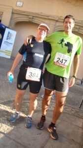 Con Roberto, antes de la Media de Guadix. ¡Pedazo de crack!