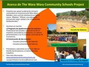 Wara Wara school