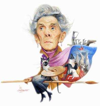 Leonora Carrington caricatura