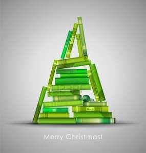 Navidad Arbol libros