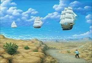 Surrealismo barcos