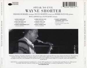 Wayne Shorter - Speak No Evil - Back