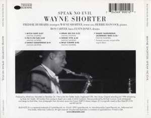 Wayne Shorter - Speak No Evil - Back