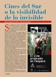 Artículo publicado en prensa tras la quinta edición de Cines del Sur