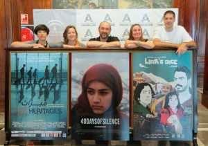 El jurado, el director del Festival y las películas premiadas. Foto cortesía de Ramón L. Pérez