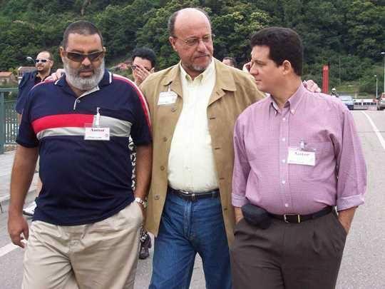 Justo Vasco, Amir Valle y Lorenzo Lunar