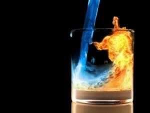 Incendio vaso de agua
