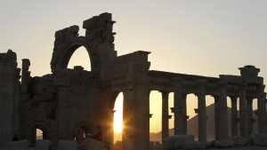 Palmira puesta de sol