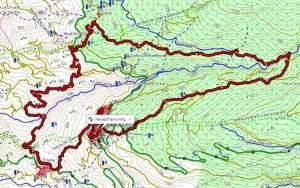 Trail Nevada Mapa