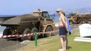 Costas obras playa granada
