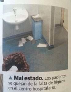 Hospital Granada suciedad