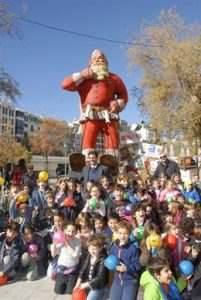 Papa Noel más grande Europa